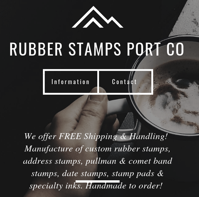 Rubber Stamps Port Co. Handmade Manufacture of Custom Rubber Stamps